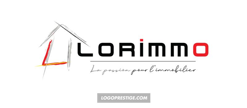 logo luxe maison pinceau couleur